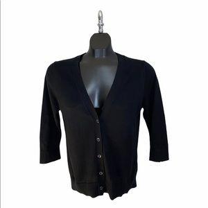 Black Gap V-Neck 3/4 Sleeve Cardigan / Size Medium